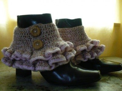 Crochet Pattern: Victorian/Steampunk Ruffled Spats | Oh, That Mrs ...