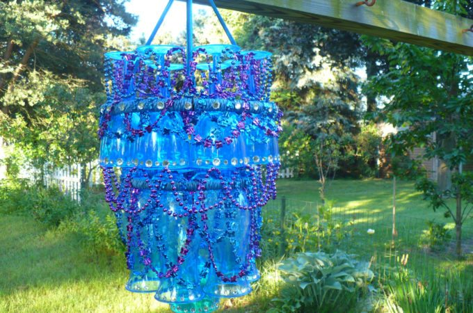 Plastic Stemware Patio Chandelier