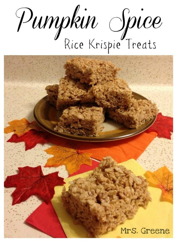 Pumpkin Spice Rice Krispie Treats | Oh, That Mrs. Greene!
