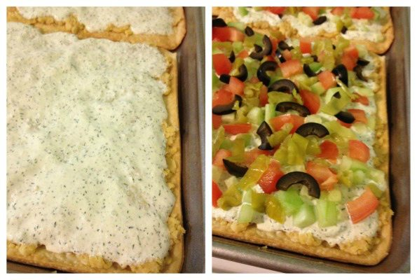 Recipe: Greek veggie pizza
