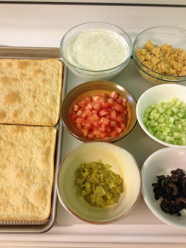 Recipe: Greek veggie pizza