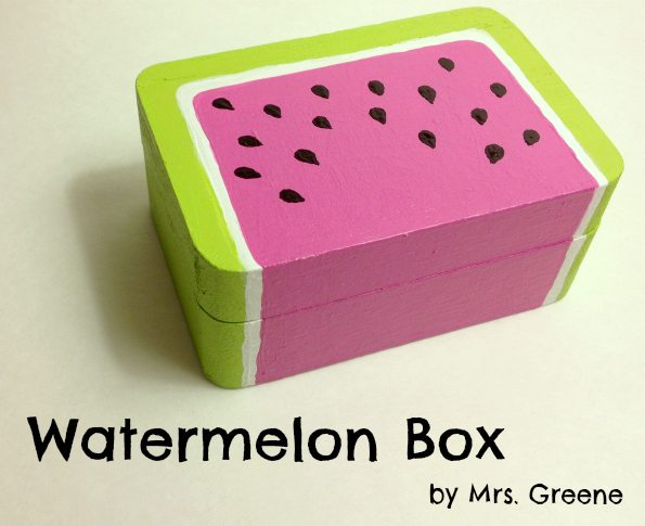 Craft Tutorial: Painted Watermelon Box
