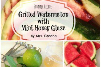 Grilled Watermelon with Mint Honey Glaze