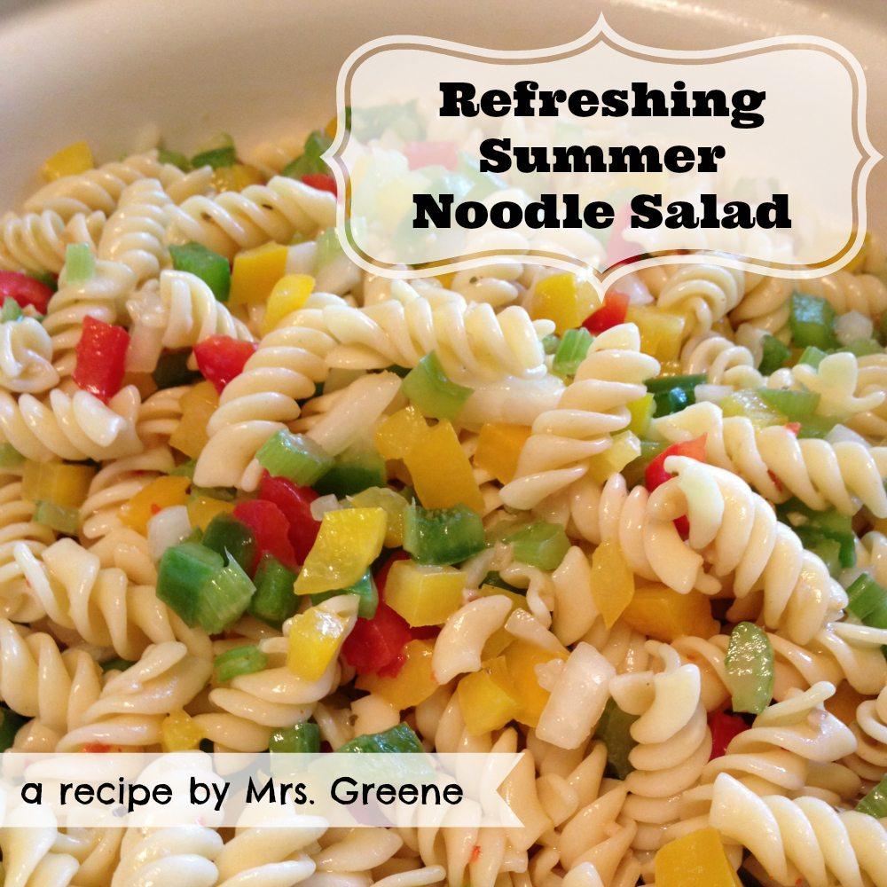 Recipe: Refreshing Summer Noodle Salad