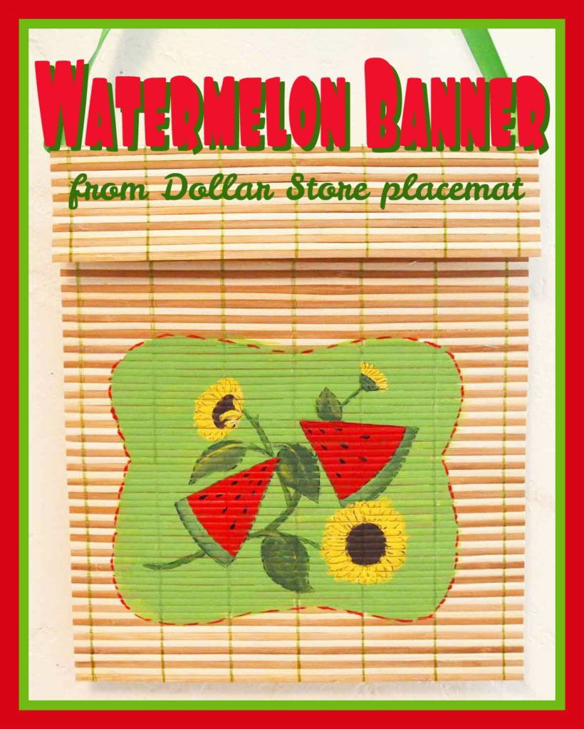 Painted Watermelon Banner