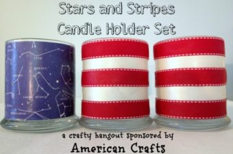 DIY Stars and Stripes Candle Holders