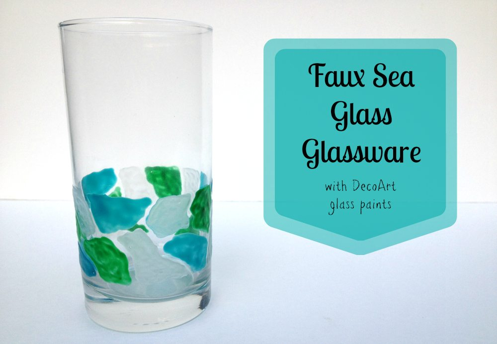 Tutorial: Faux Sea Glass Glassware