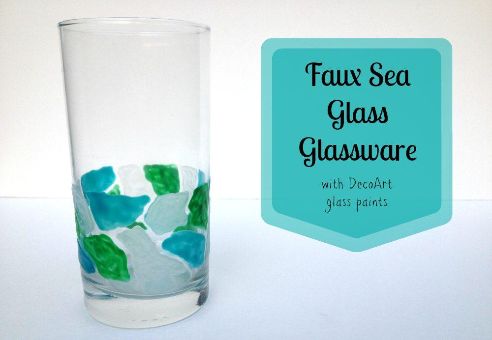Tutorial: Faux Sea Glass Glassware