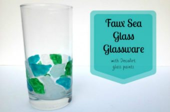 faux beach glass mosaic