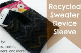 recycled sweater device sleeve