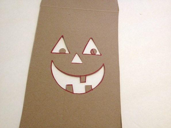 Jack-o-lantern stencil