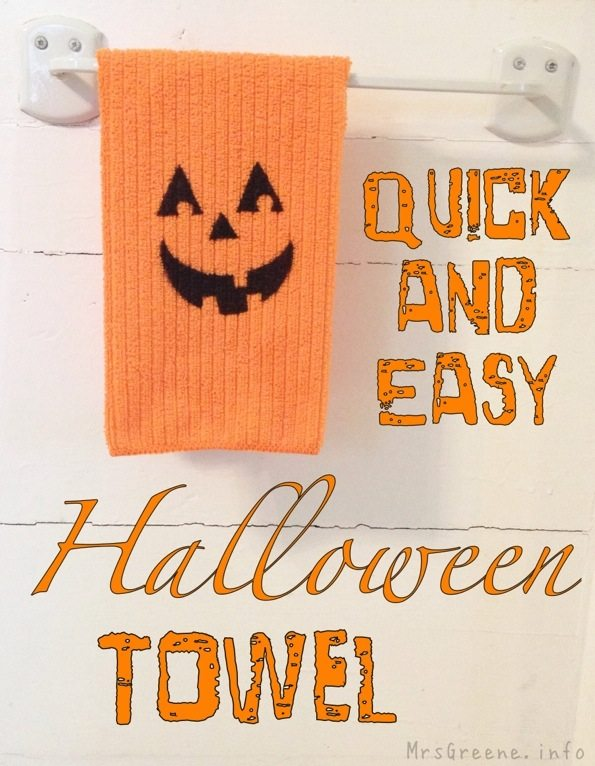 Quick and Easy Halloween Towel