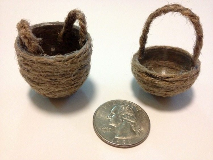 DIY Dollhouse Baskets