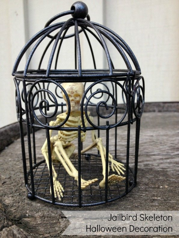 Make a Jailbird Skeleton Halloween Decoration