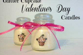 Glitter Cupcake Valentine's Day Candles