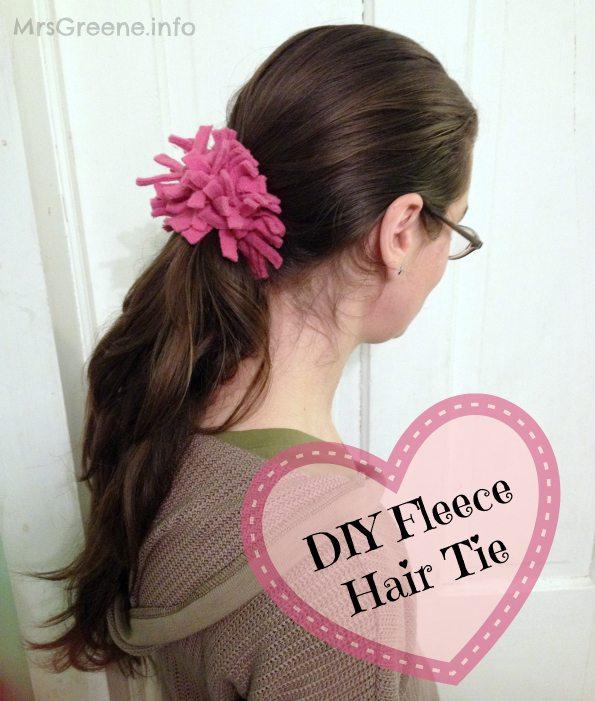 DIY Fleece Hair Tie