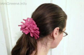 fleece hair tie