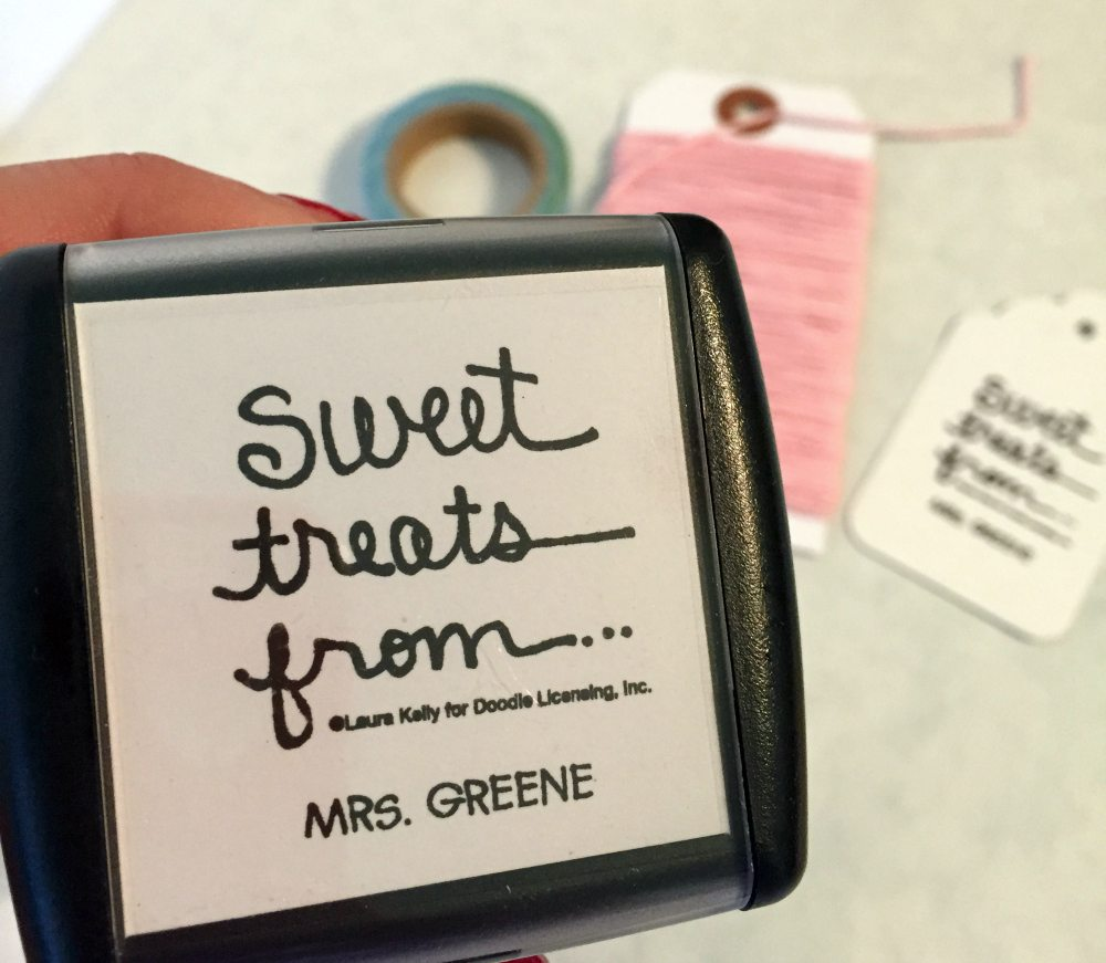 custom rubber stamp from Expressionery