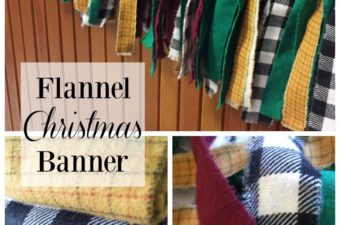 Torn Flannel Christmas Banner