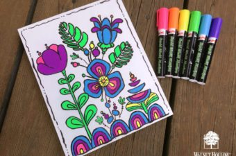Dry Erase Coloring Book Art