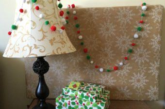 Twine and Pom Pom Christmas Garland